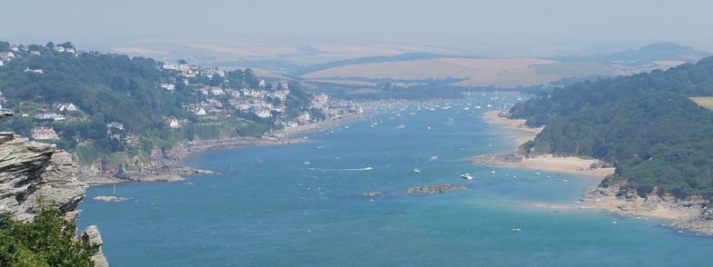 Amazing view of Salcombe from Overbecks