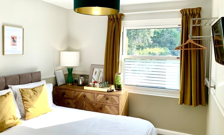 Boutique luxury bedroom in our B&B centrally located in Torquay, Devon